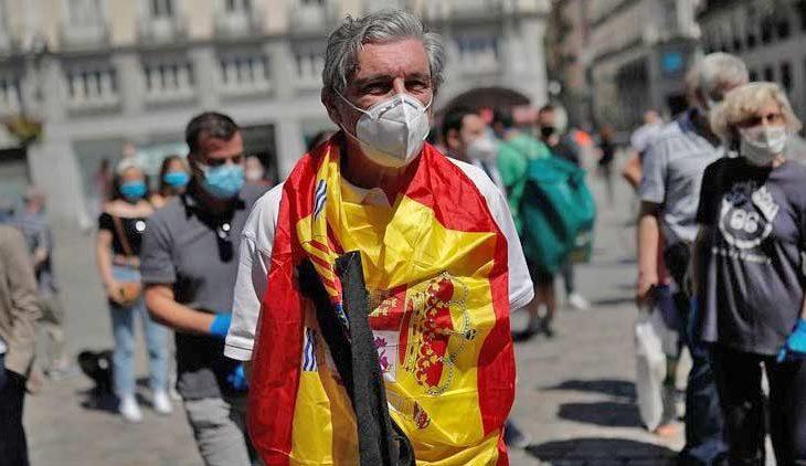 La pandemia en España.