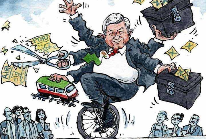 Caricatura de AMLO.