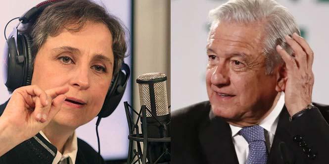 Carmen Aristegui vs AMLO.