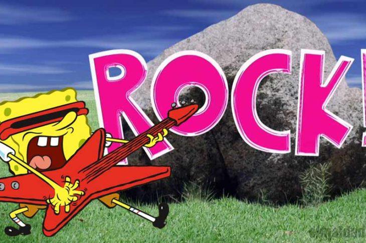 Bon Esponja rockeando bien duro.