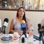 Sara Ahumada en rueda de prensa.