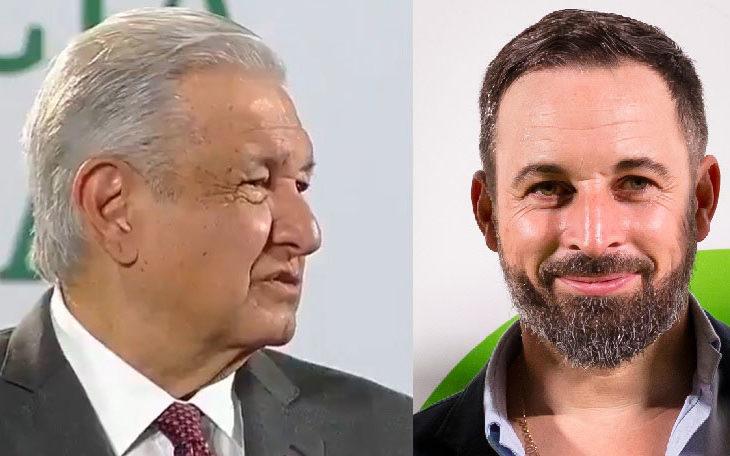 AMLO y Abascal, presidente de Vox.