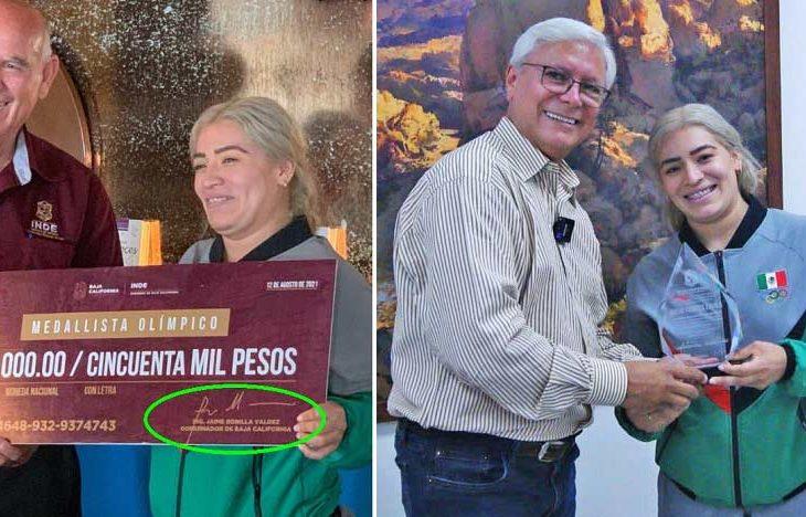 Aremi Fuentes con las mentirosas autoridades estatales.