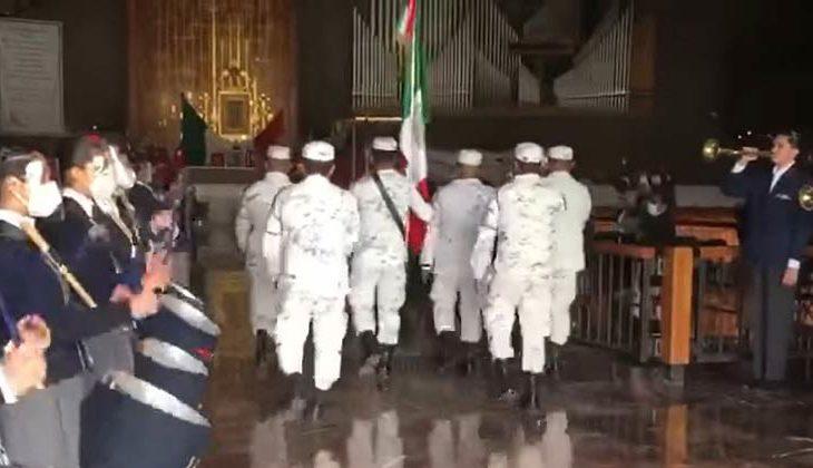 Guardia Nacional en la basílica de Guadalupe en la CDMX.