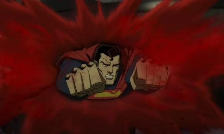 Captura de pantalla del nuevo trailer de Injustice.