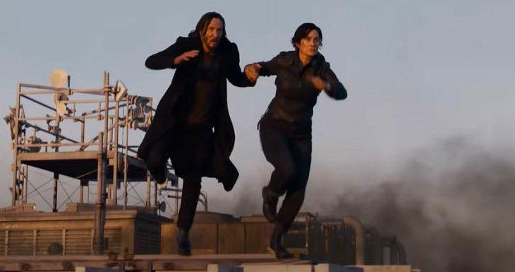 Captura de pantalla del trailer de Matrix: Resurrecciones.