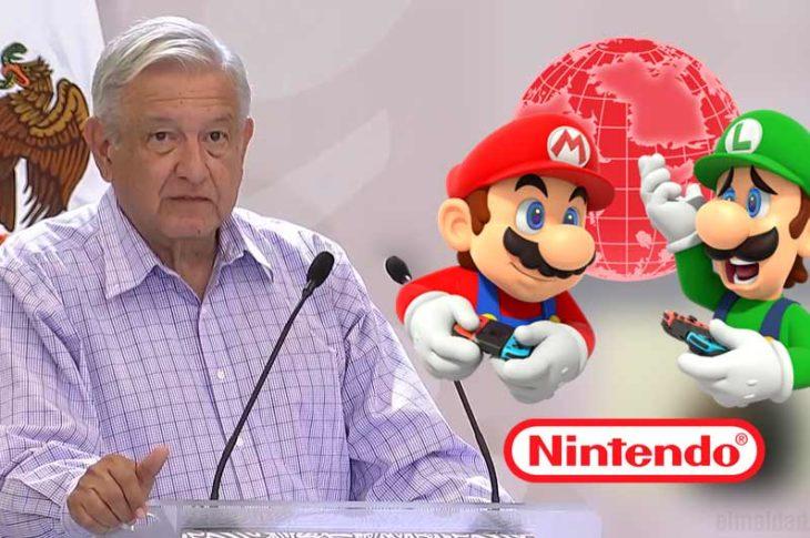 AMLO arremete contra el Nintendo.