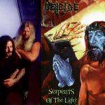 Deicide en 1997 y la portada de Serpents Of The Light.